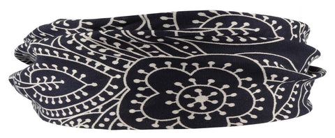Bandana Headband-Navy