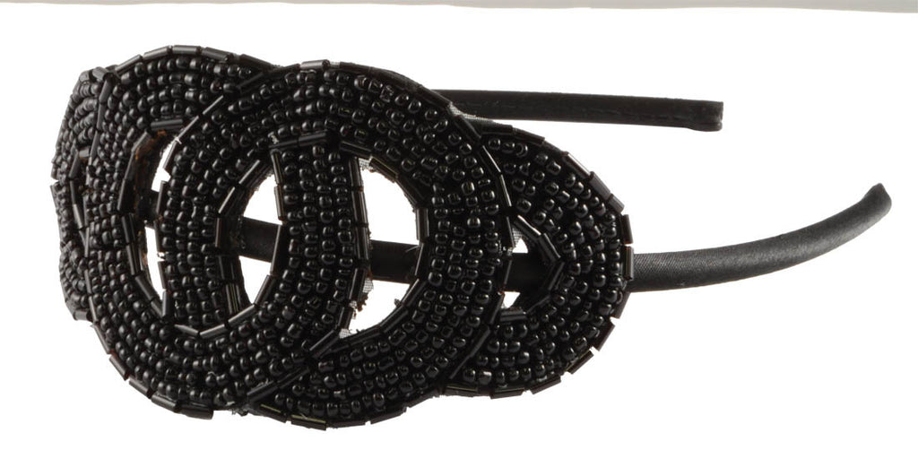 Beaded Loops Headband-Black