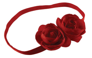 Twin Roses Headband-Red