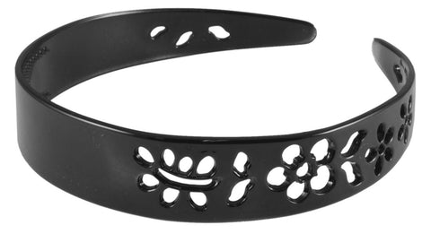Flower Cutout Headband- Black