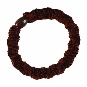 Bumpy Velour Pony Elastics-Brown pr.