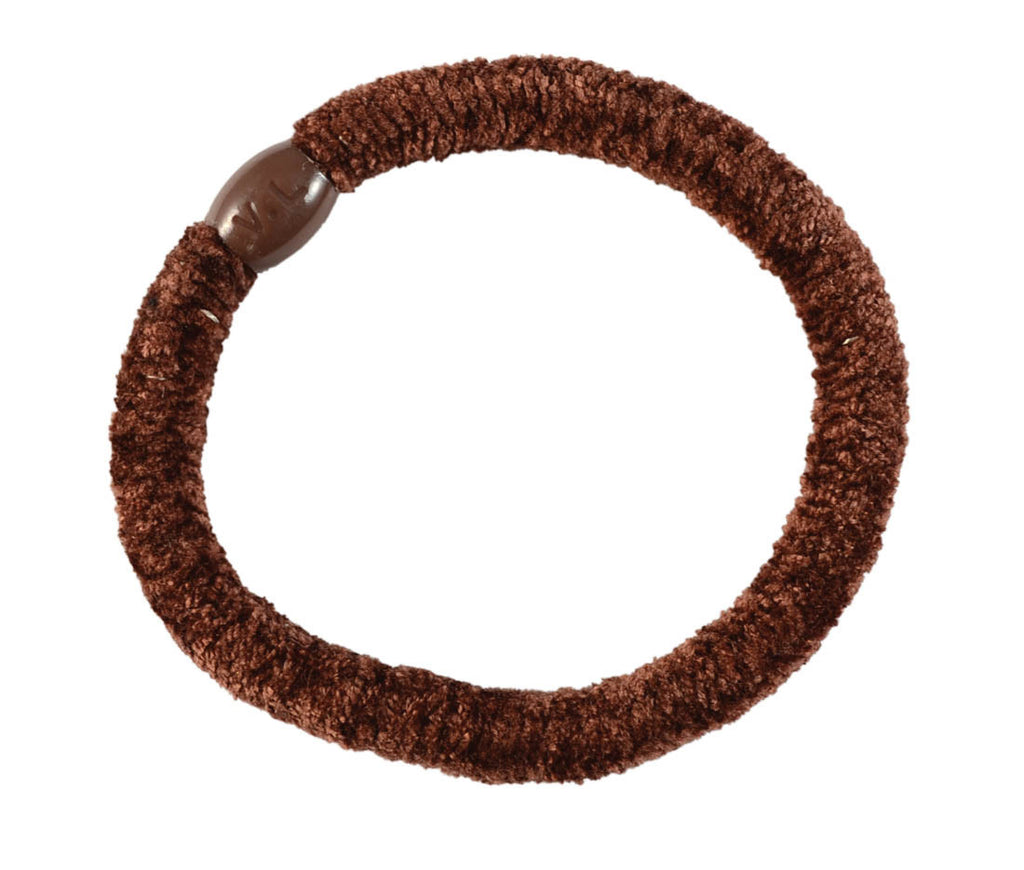 Velour Pony Elastics-Brown pr.