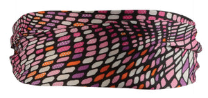 Purple/Pink Stained Glass Scarf Headband-Red/Pink
