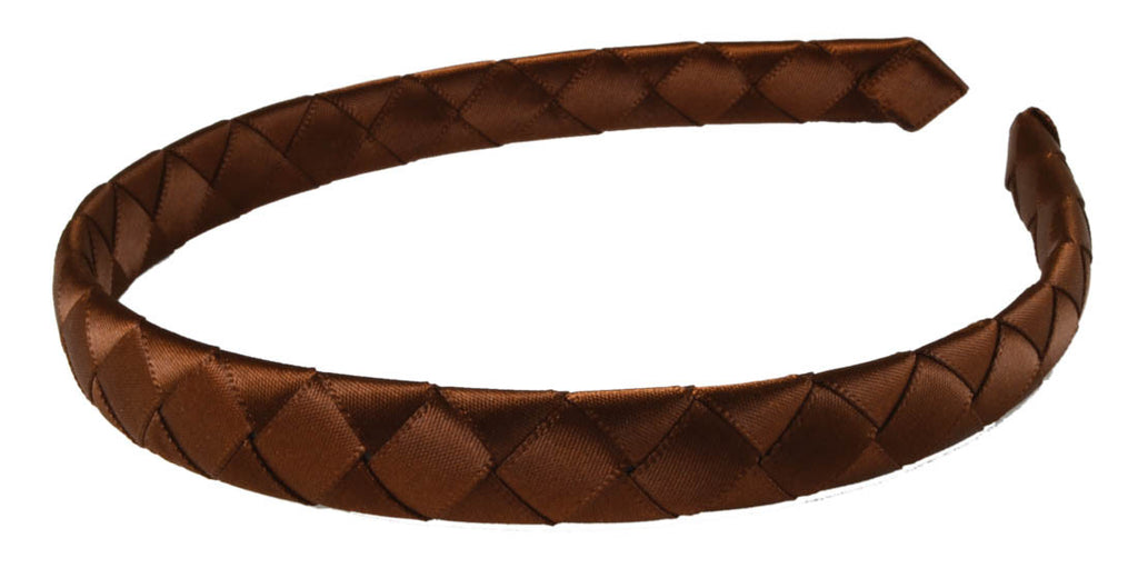 Braided Ribbon Headband-Brown