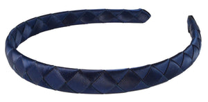 Braided Ribbon Headband-Blue