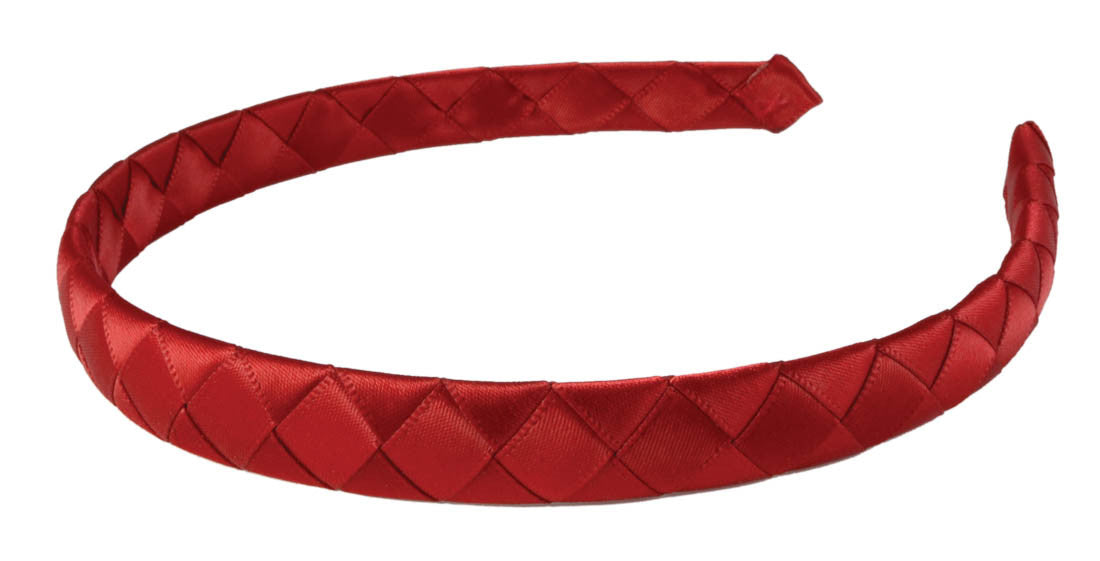 Braided Ribbon Headband-Red