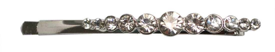Large Gems Curved Bob Pin-Clear, pr.