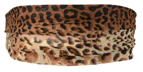 Mini Leopard Chiffon Headband