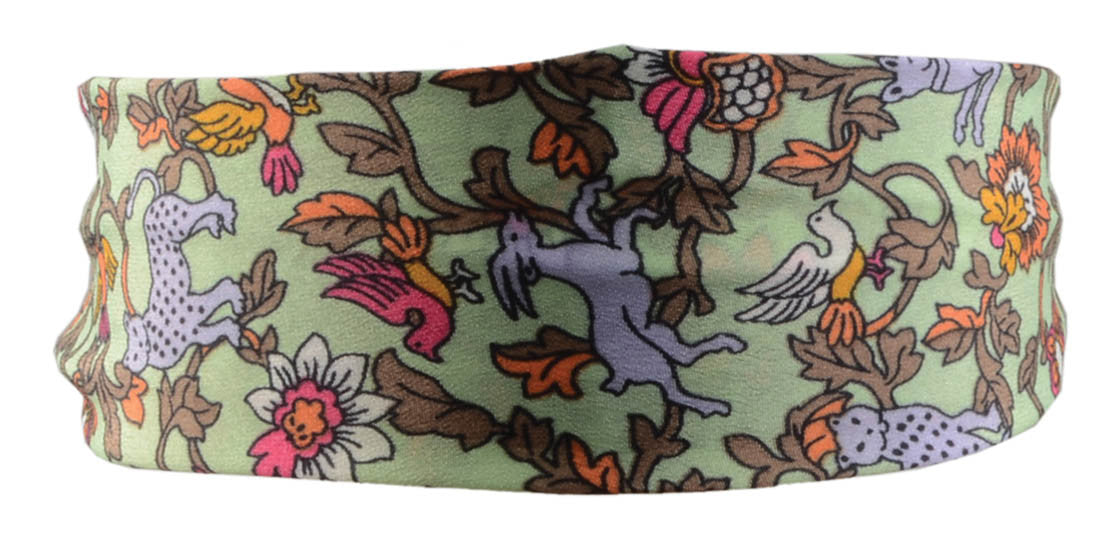 Amimals Vine Scarf Headband-Mint/Taupe