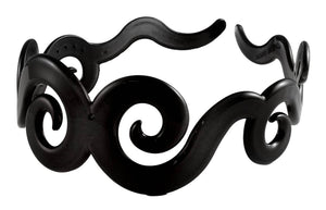 Swirly Headband-Black