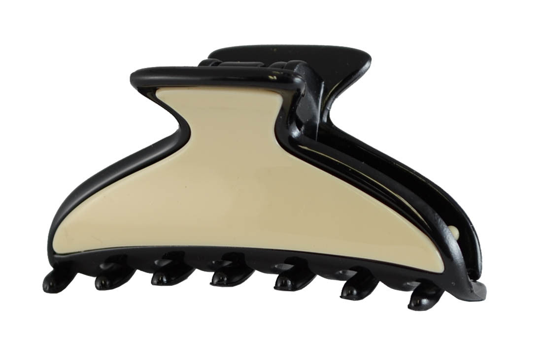 Crescent 2 Tone Claw (S)-Black/Beige