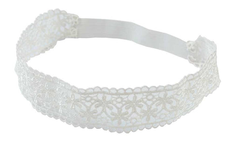 Lace Headband-White