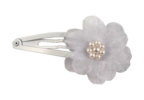 Flower Sleep Clip-White pr.