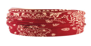 Bandana Headband-Burgundy