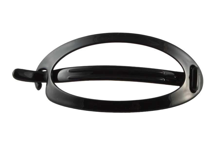 "Oval MF Barrette (L) 4 1/2""-Black"