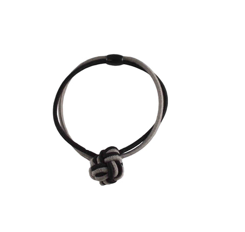 #02081 Elastic Knots-Black/Gray pr.