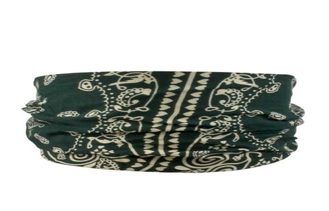 Bandana Headband-Dark Green