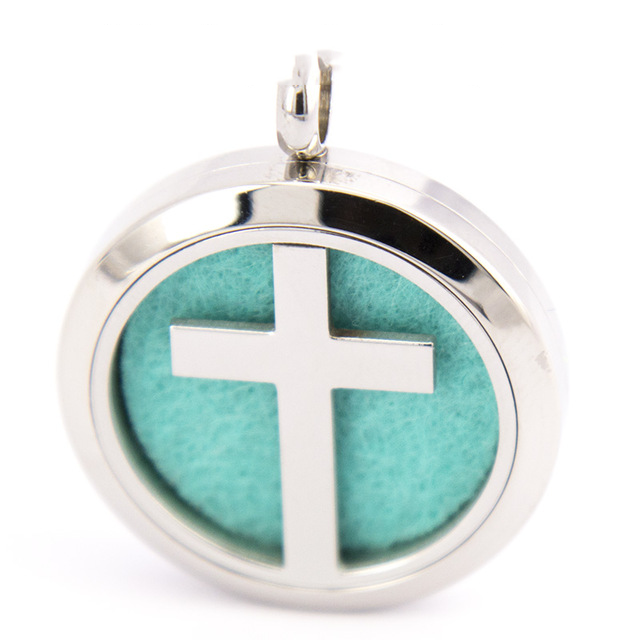 Cross Oil Diffuser Necklace