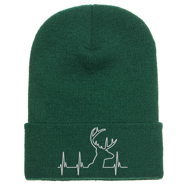 Hunting Heartbeat Knit Cuffed Beanie