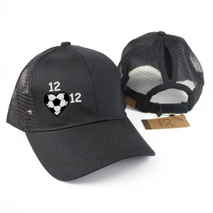 Personalized Soccer Mom Ponytail Hat