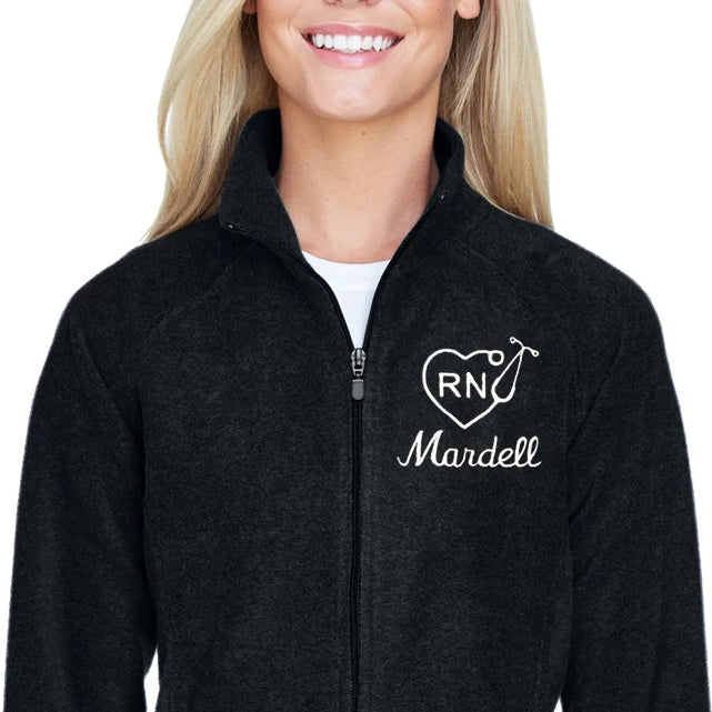 Ladies Microfleece Personalized Nurse Jacket