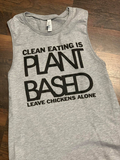 Plant Based Muscle Tank Heather Gray