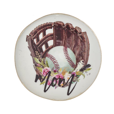 Baseball Mom Peel & Stick Charm