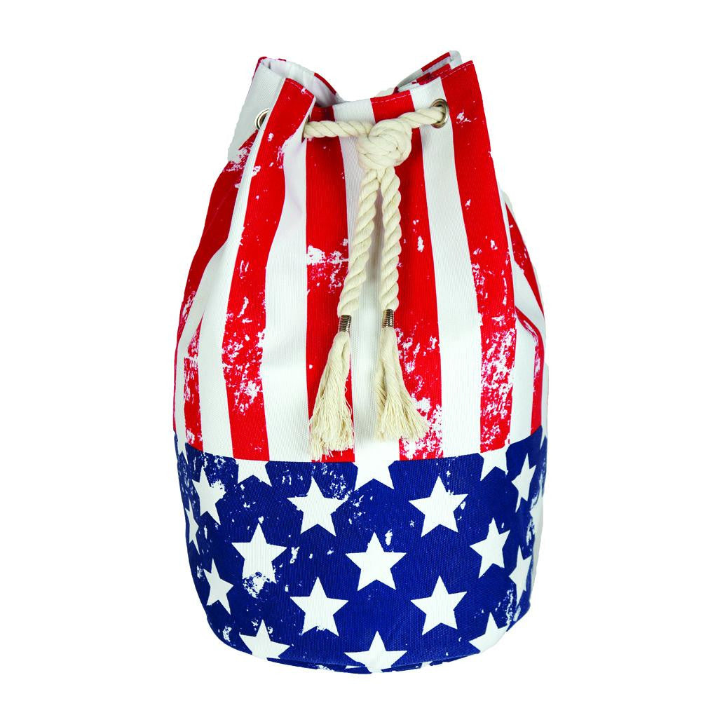 American Flag Beach Bag