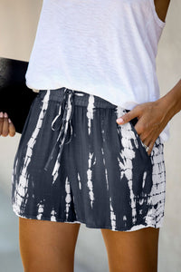 Tie Dye Drawstring Casual Shorts