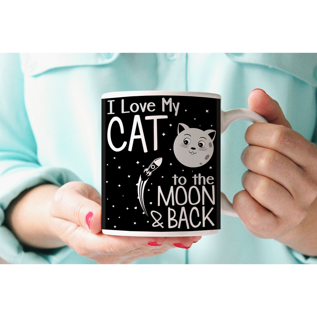 I Love My Cat To The Moon And Back Mug