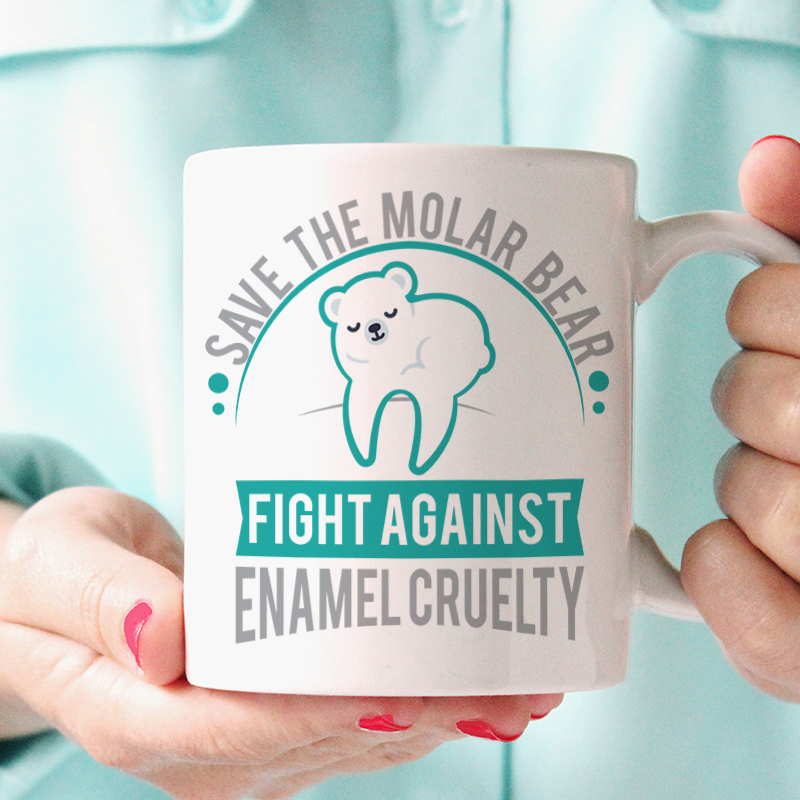 Save The Molar Bear ~ Mug