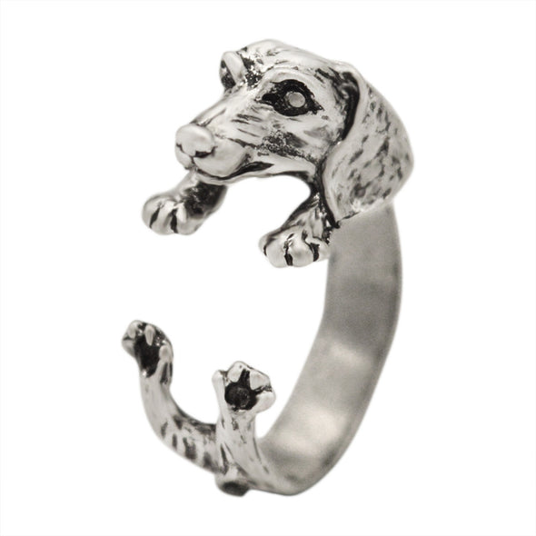 Realistic Dachshund Dog 3D Adjustable Ring