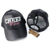Ponytail Cheer Mom Glitter Hat