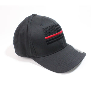 FLEXFIT Thin Red Line Black Flag Hat