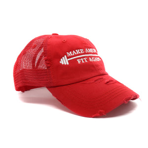 Make America Fit Again Vintage High Ponytail Mesh Hat