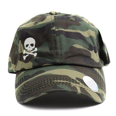 Skull & Crossbones Classic Camouflage Ponytail Hat