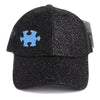 Autism Awareness Ponytail Glitter Hat