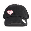Baseball Heart Women's Ponytail Hat