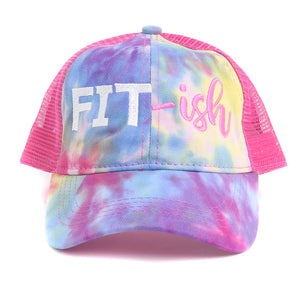 FIT-ish Tie Dye High Ponytail Mesh Hat