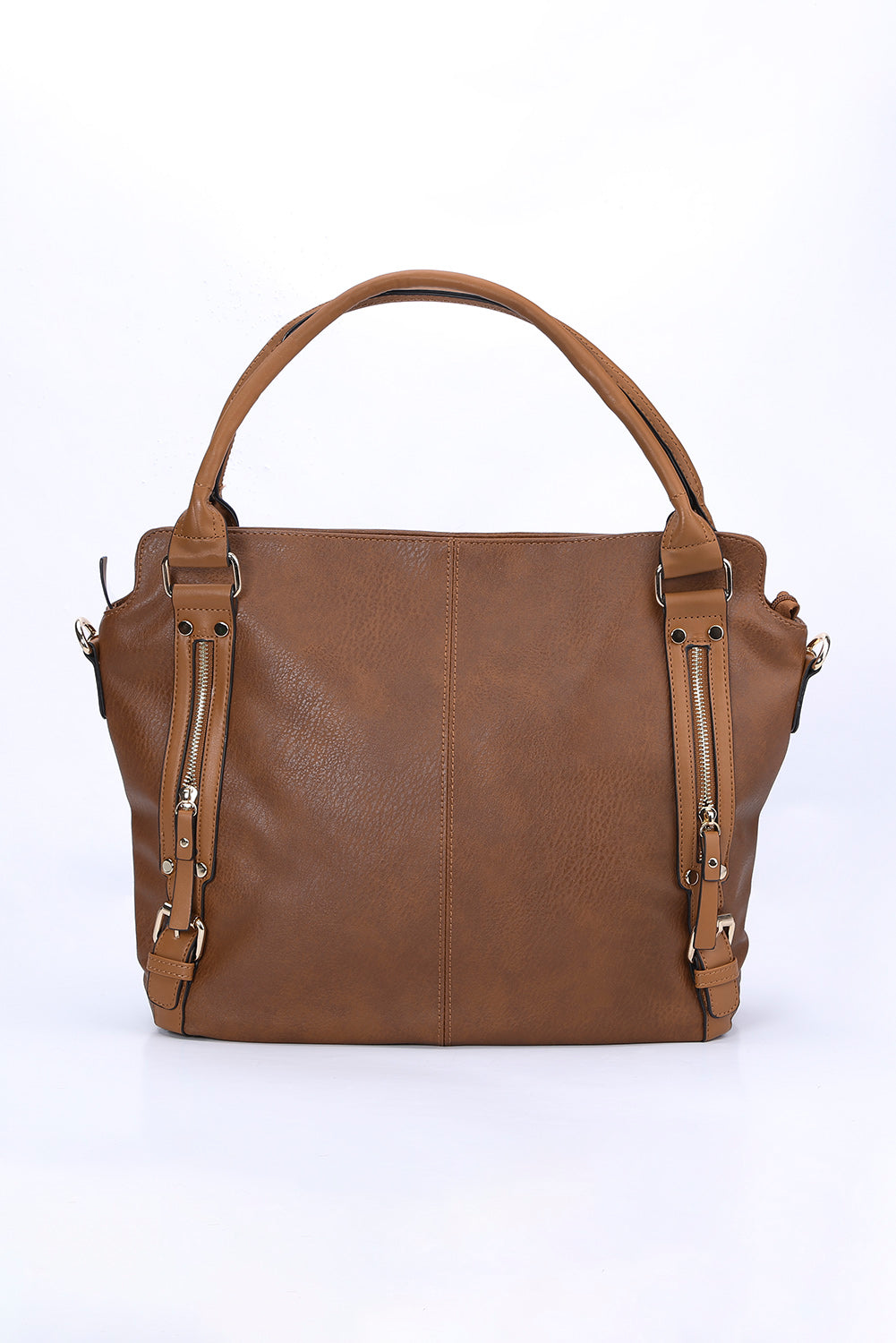 Brown Faux Leather PU Handbag