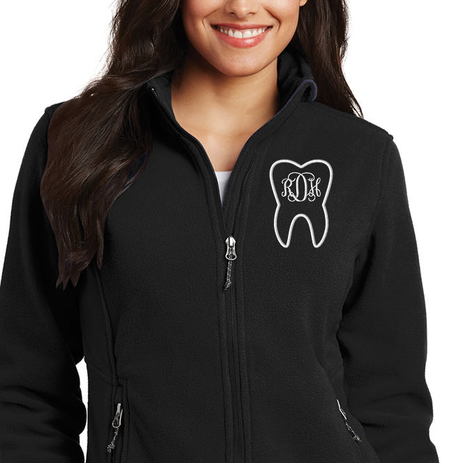 Ladies Microfleece Tooth Monogram