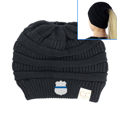 Thin Blue Line Badge Classic CC Beanie Tail