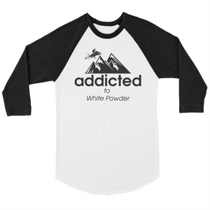 Addicted To White Powder Snowmobile Shirt