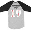 That's My Boy Baseball Raglan
