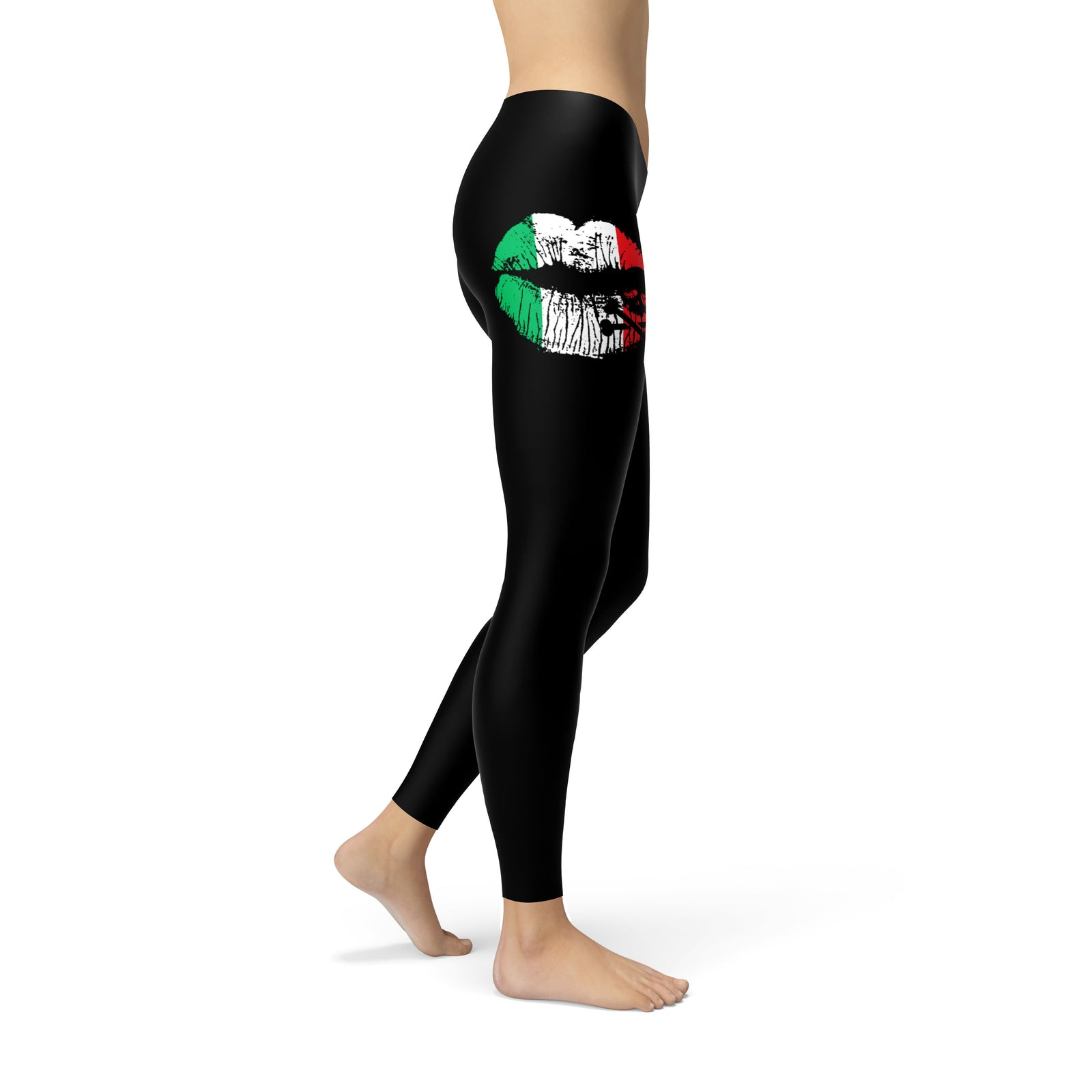 Italian Skull Lips Leggings