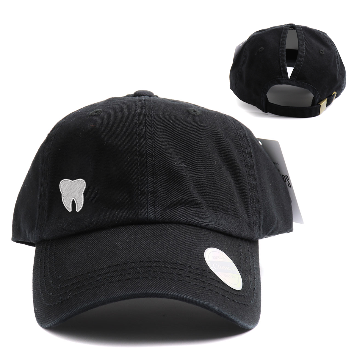 Tooth Classic High Ponytail Hat
