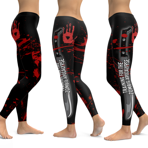 Training For The Zombie Apocalypse Leggings