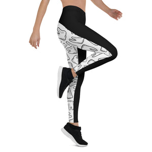 Teeth Cutie Booties Leggings