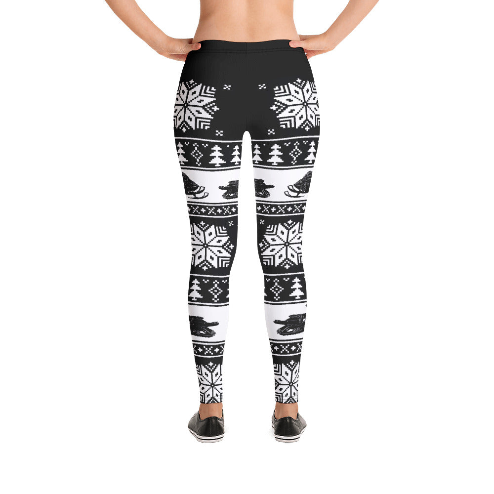 Snowmobile Snowflake Leggings