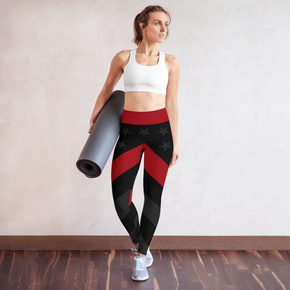 Thin Red Line Stealth Yoga Leggings
